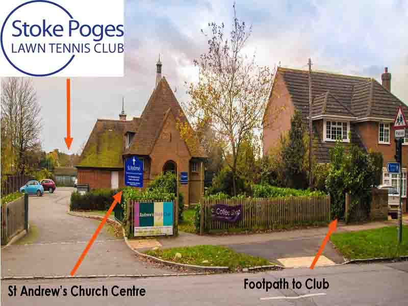 Rogers Lane-St Andrew's footpath-Stoke Poges Tennis Club