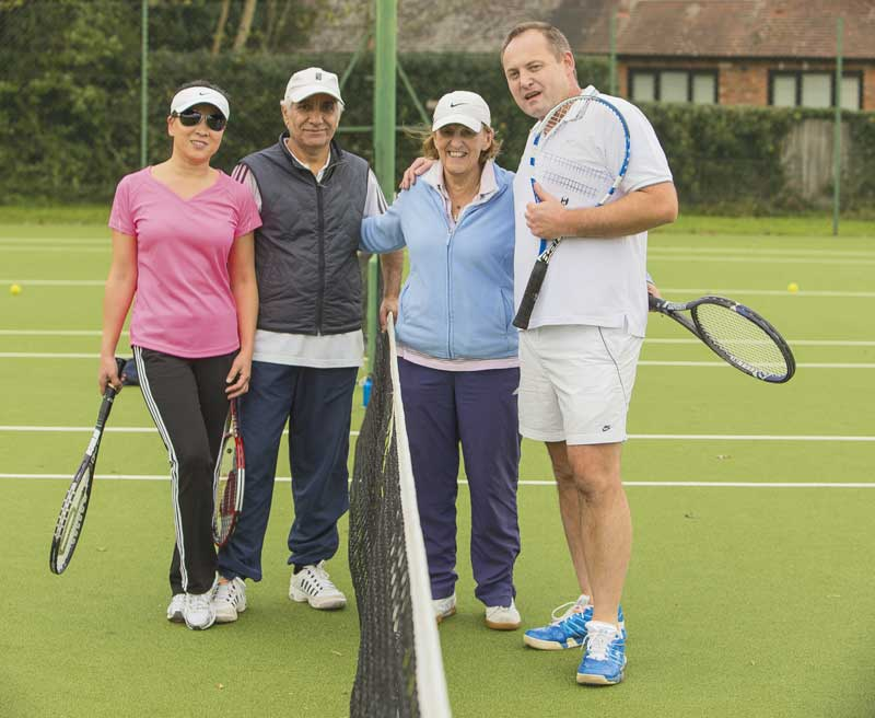 Winter mixed doubles play at Stoke Poges Lawn Tennis Club