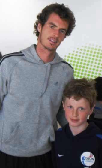 Andy Murray, meets AEGON Future Star, village boy